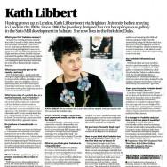 <b>Kath Libbert wearing &quot;fleurs violette&quot;</b>
